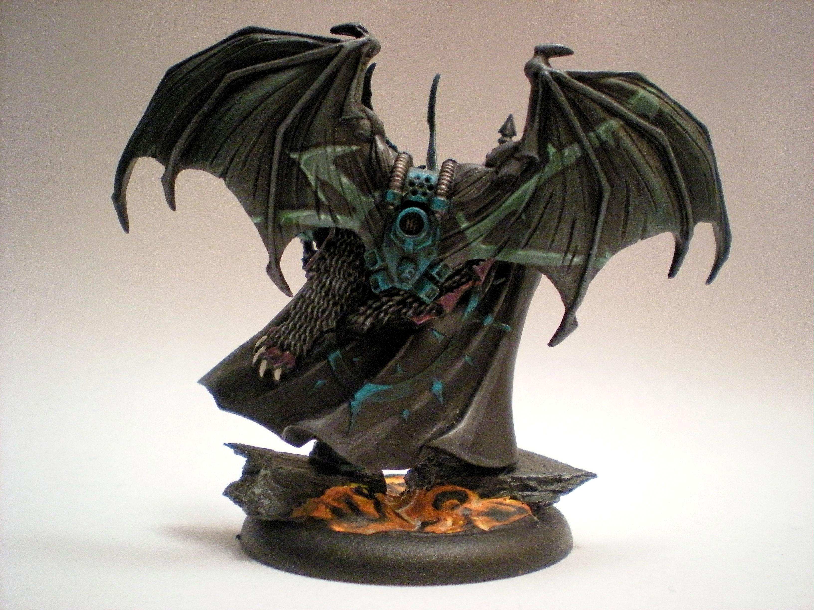 Base, Chaos, Flying, Freehand, Green, Lava, Lord, Slaanesh, Sword, Turquoise, Warhammer 40,000, Winged