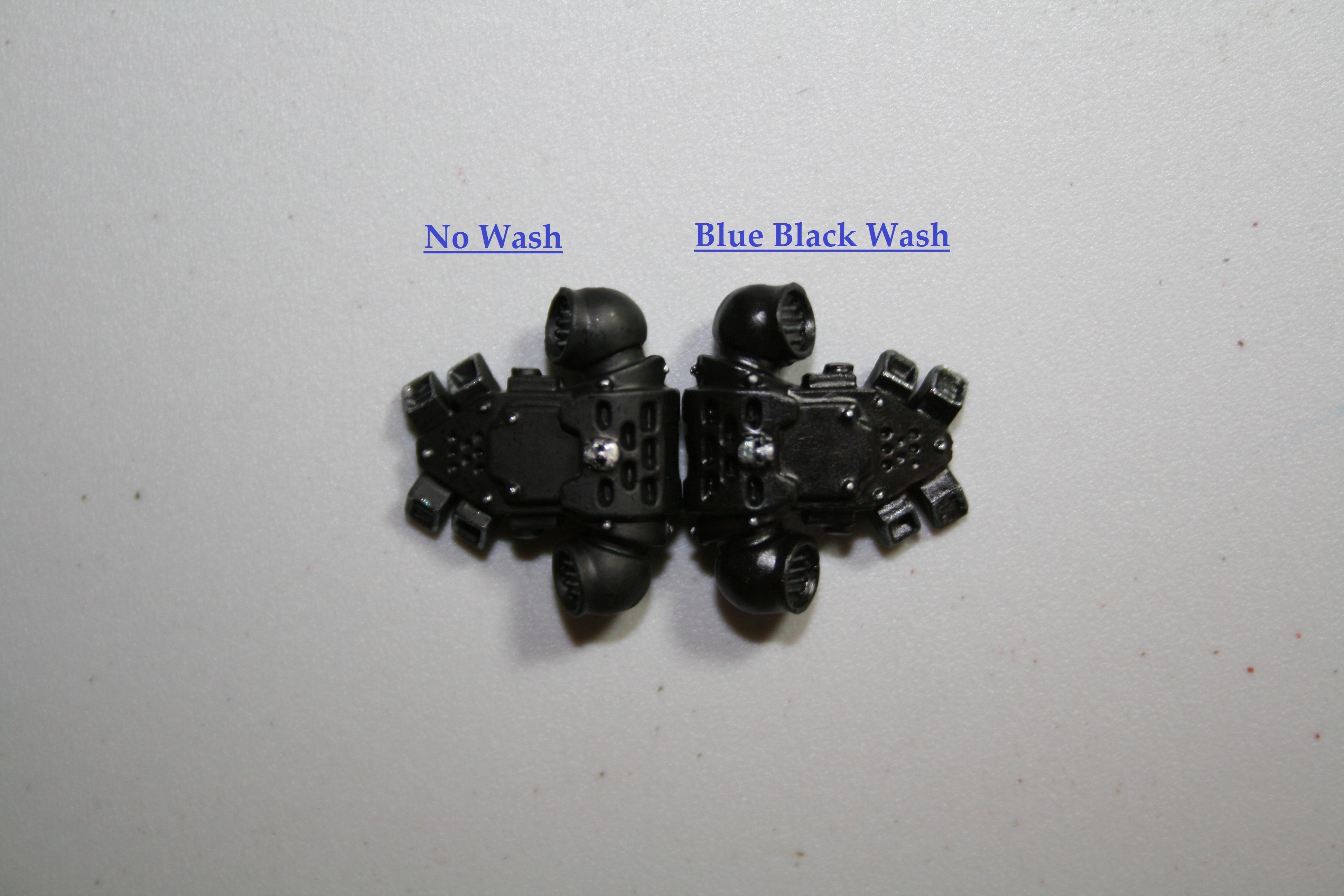 Blue Black Wash Front