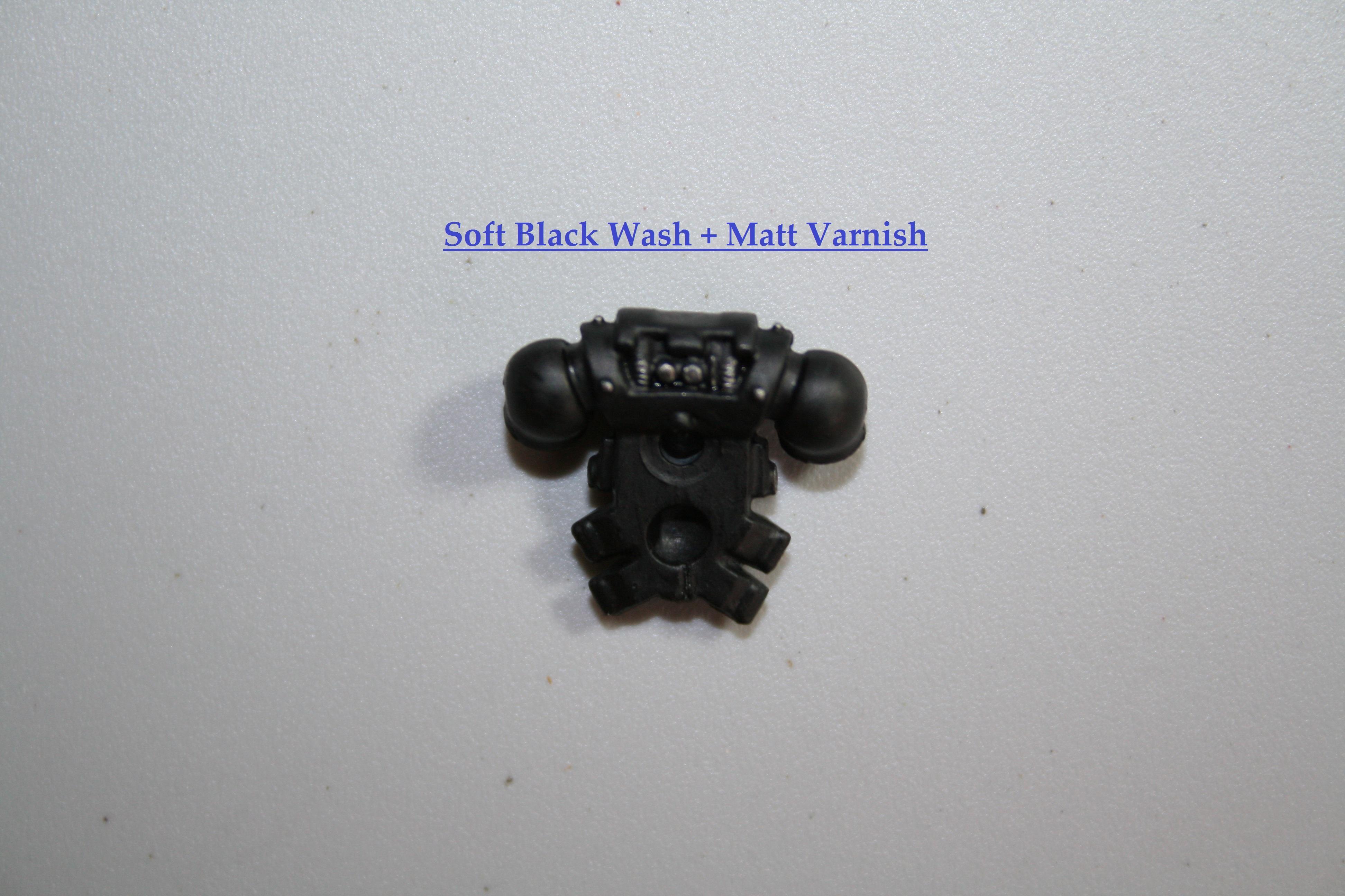 Soft Black Wash + Matt Varnish Back