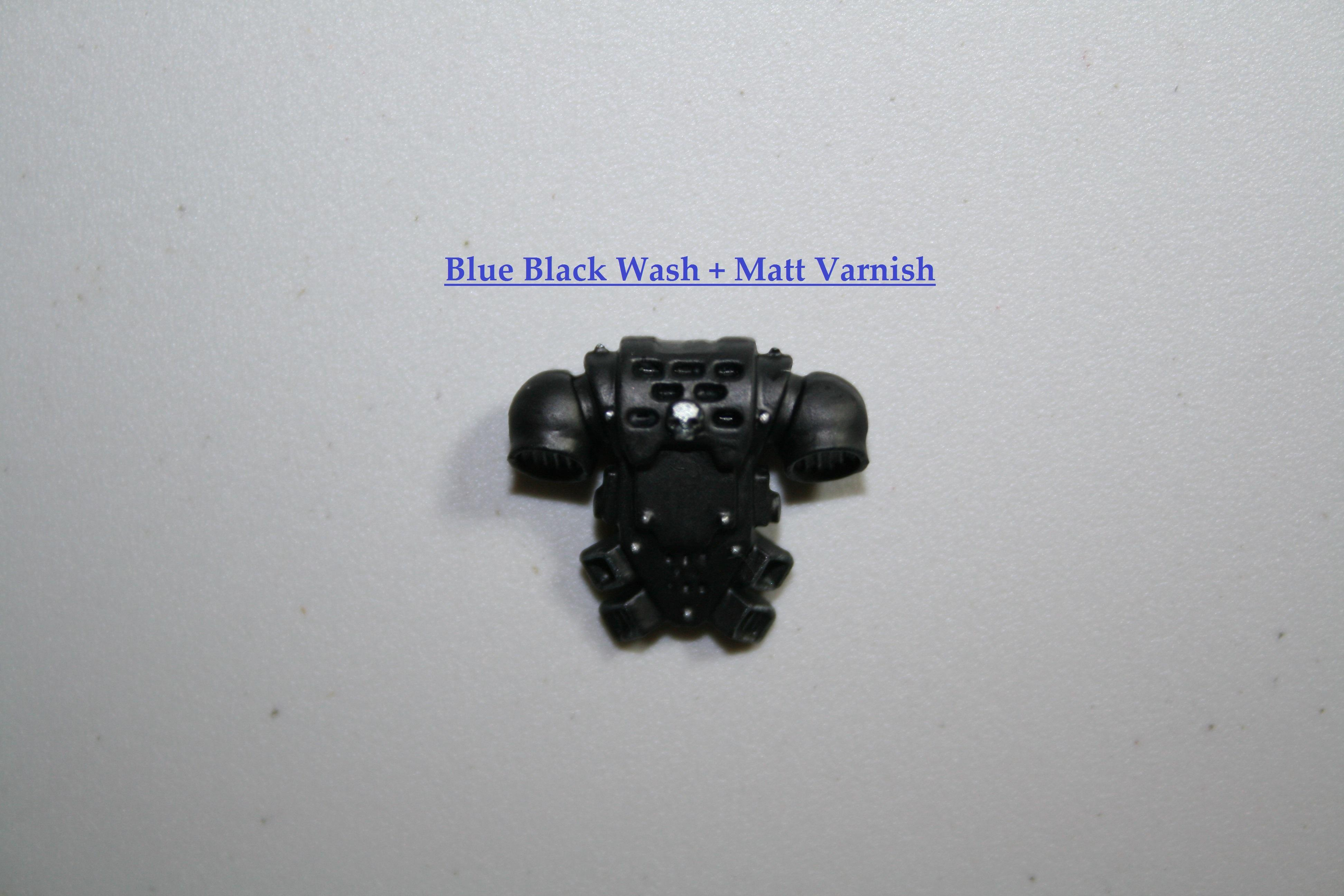 Blue Black Wash + Matt Varnish Front
