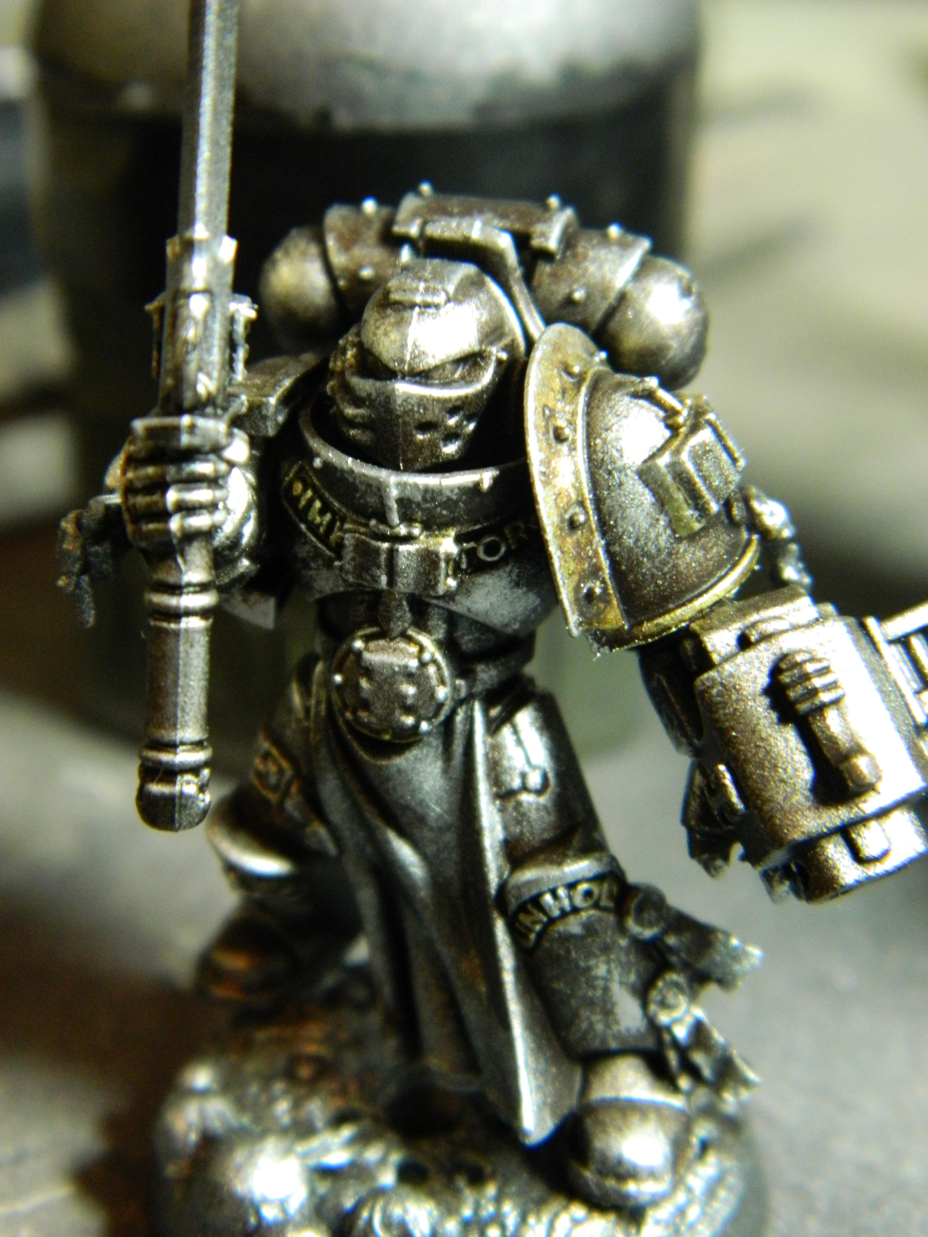 Force Weapon, Gk, Gray Knight, Grey Knights, Metal, Object Source Lighting, Psybolt, Weathered