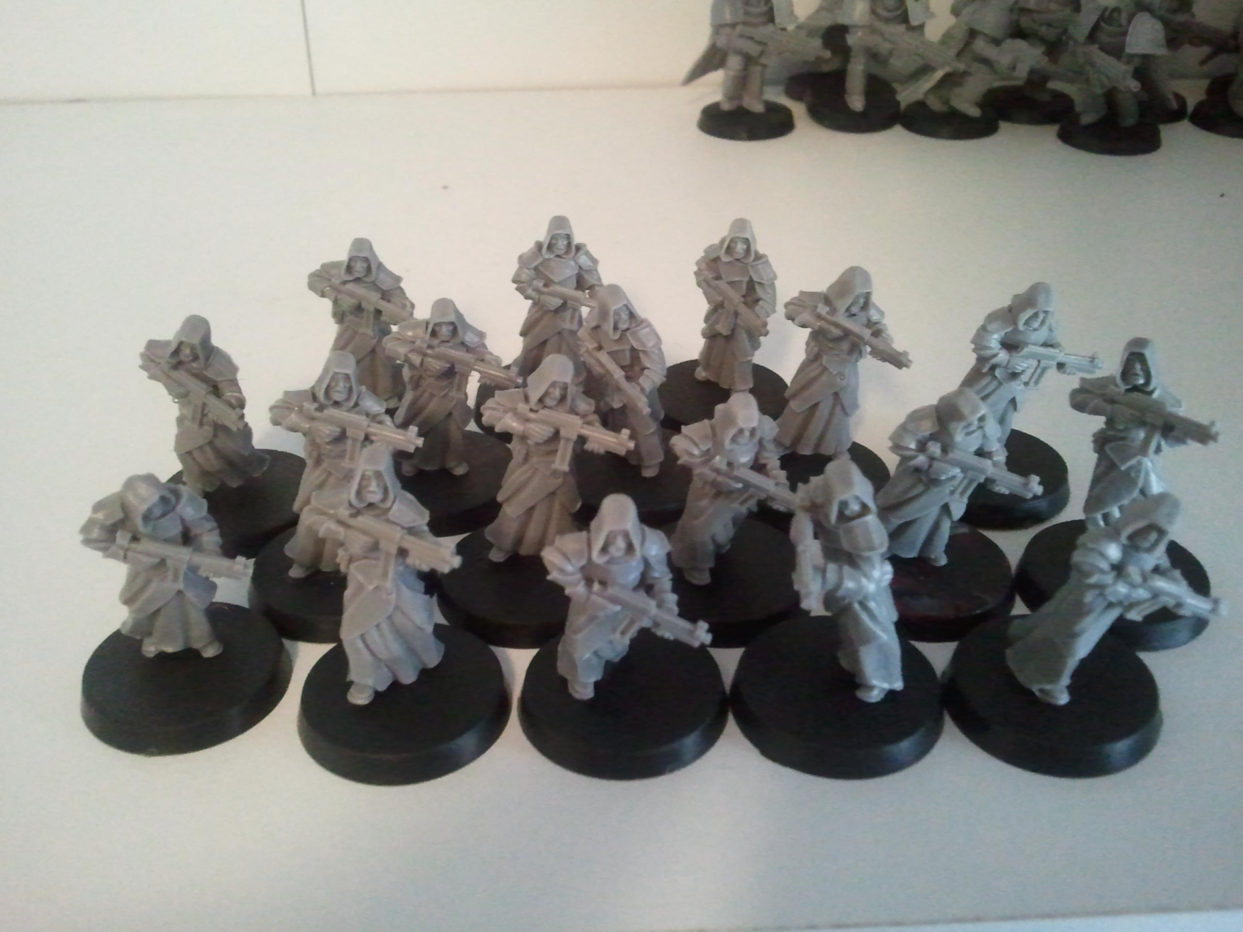 partially finished cultist squad...only 12 minis more to go!