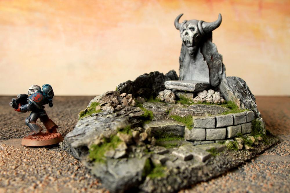 Ruin, Temple Scratch Built, Terrain