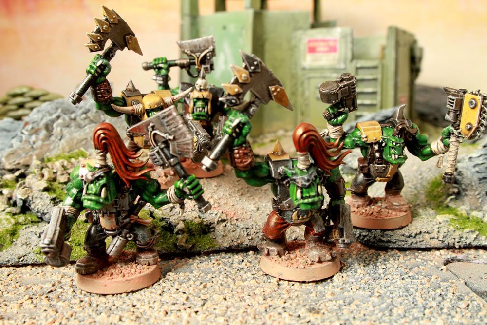 Greenskin, Infantry, Nob, Orks, Warhammer 40,000