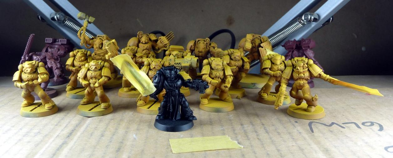WIP Imperial fists tactical squad