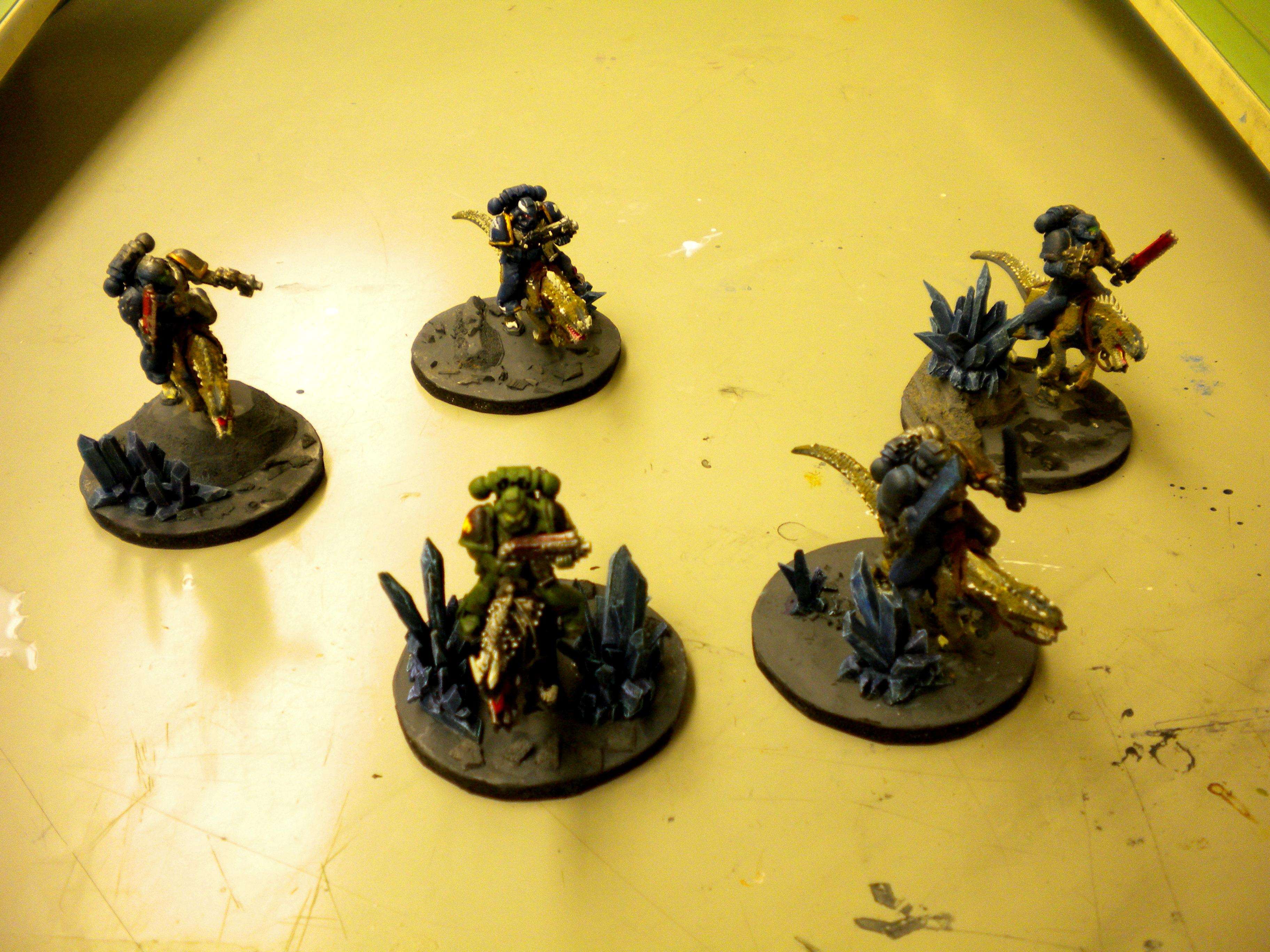 60mm, Calvary, Cold One, Conversion, Crystals, Custom Base, Raptors, Razorlizard, Space Marines, Thunder Lords, Thunderwolf