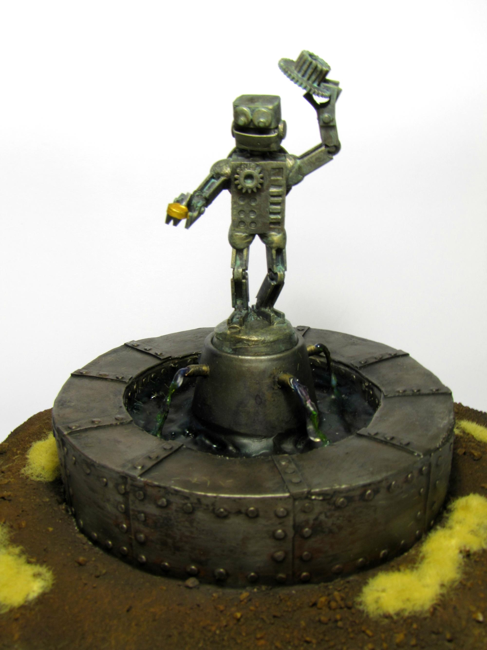 Cog, Gear, Hat, Metal, Prize, Robot, Steampunk, Terrain, Terrain Competition, Well