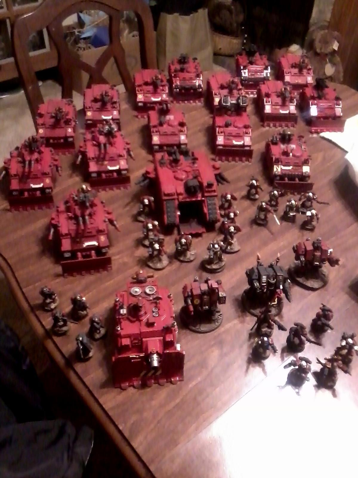 Razorbacks, Red Hunters, Rhinos, Space Marines, Tank