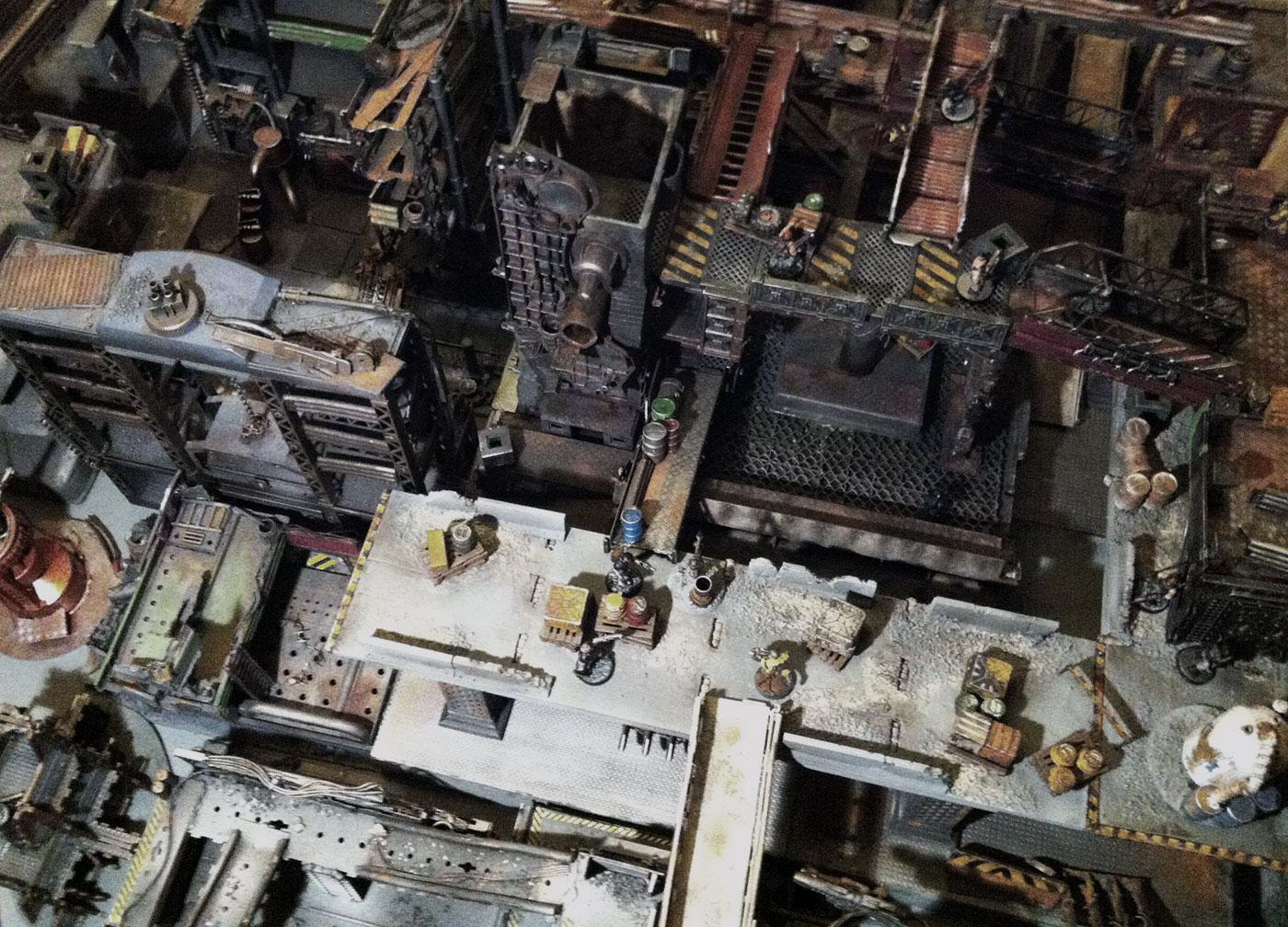 Board, Buildings, Cities Of Death, Game Table, Gangs, Necromunda, Ruin, Scratch Build, Terrain, Underhive