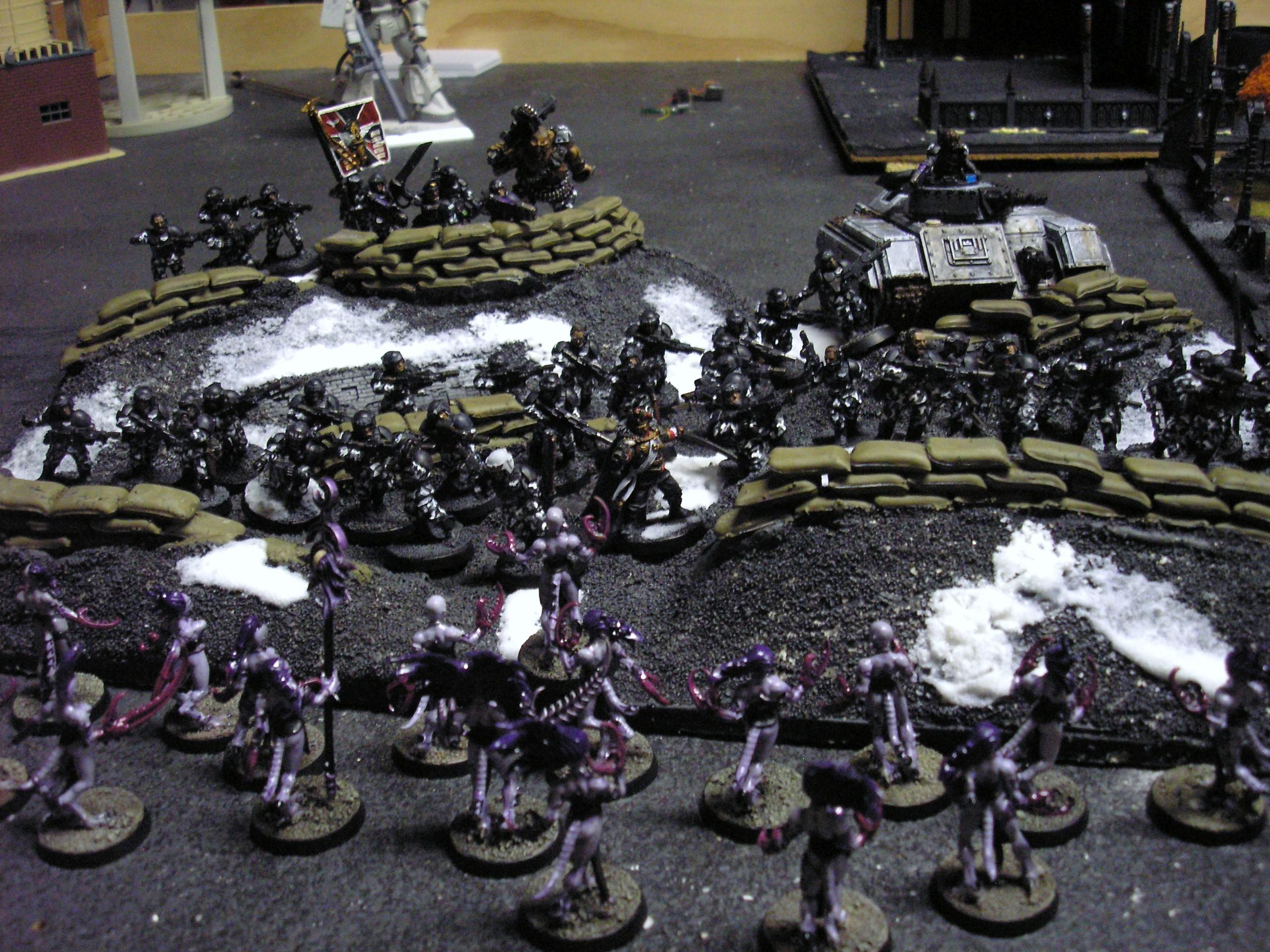 Daemonettes, Game Table, Imperial Guard, Slaanesh, Terrian