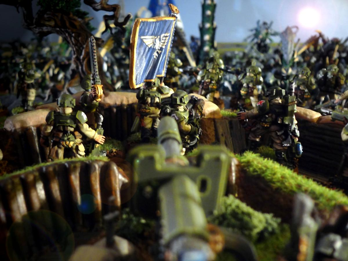 Campaign, Imperial Guard, Lascannon Heavy Weapons Team, Space Marines, Tyranids, Warhammer 40,000
