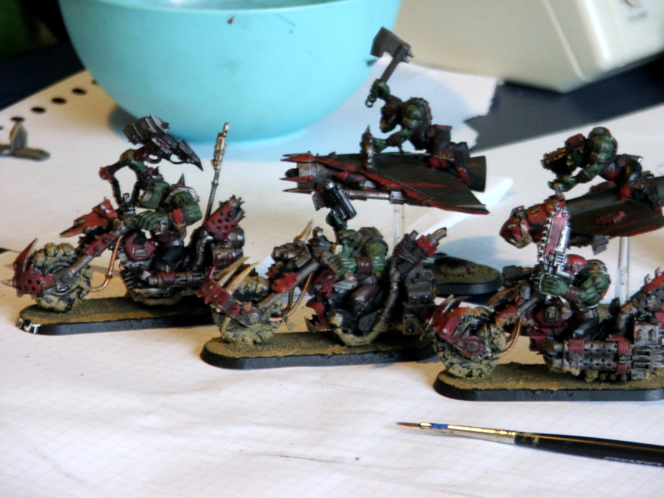 Ork Bikers, Ork Wip, Orks, Waaaghhh