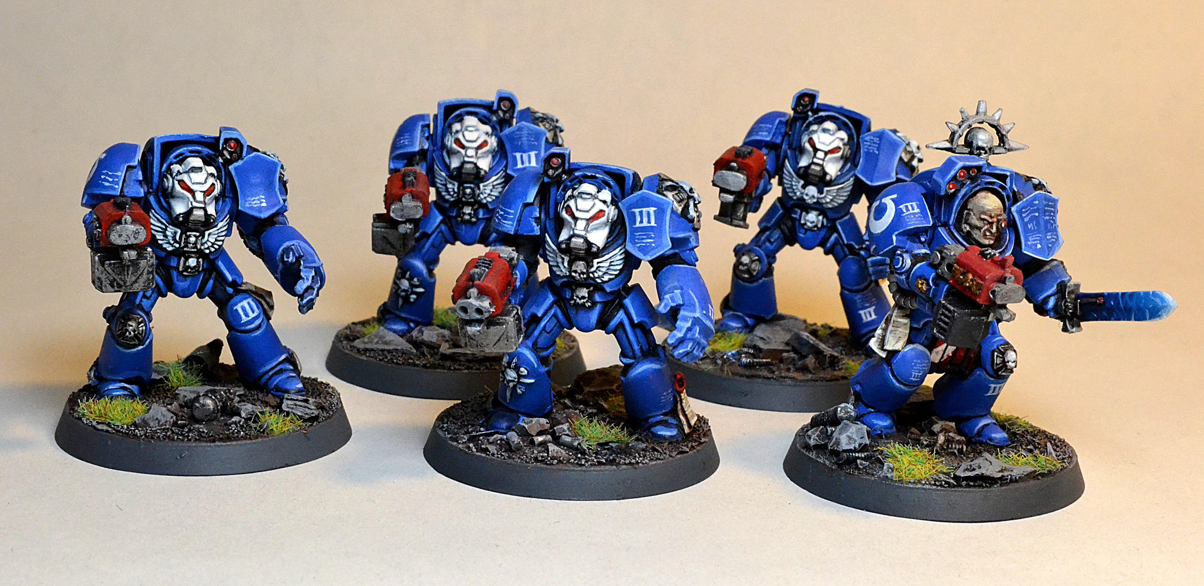 Blue, Space Marines, Terminator Armor, Ultra Marines, Ultramarines
