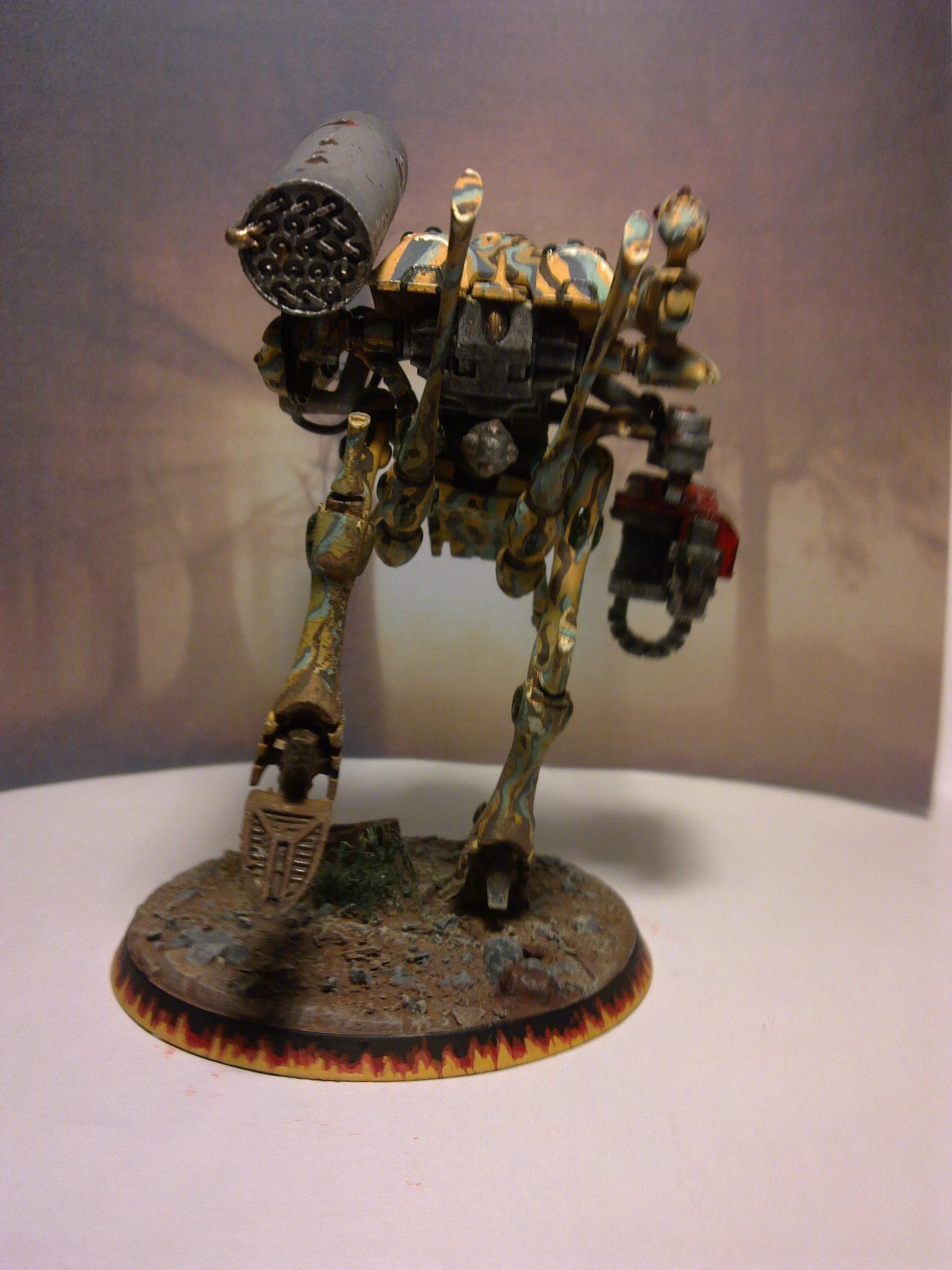 Camouflage, Eldar, War Walker, Warhammer 40,000, Weathered