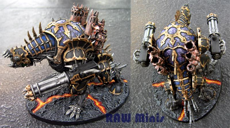 Chaos, Chaos Space Marines, Daemon Engine, Daemons, Forgefiend, Painting, Vehicle, Warhammer 40,000