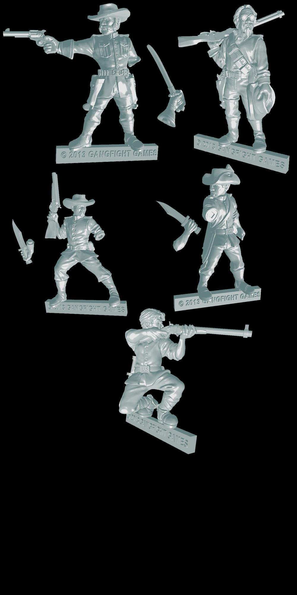 Wildes Rangers Sculpts