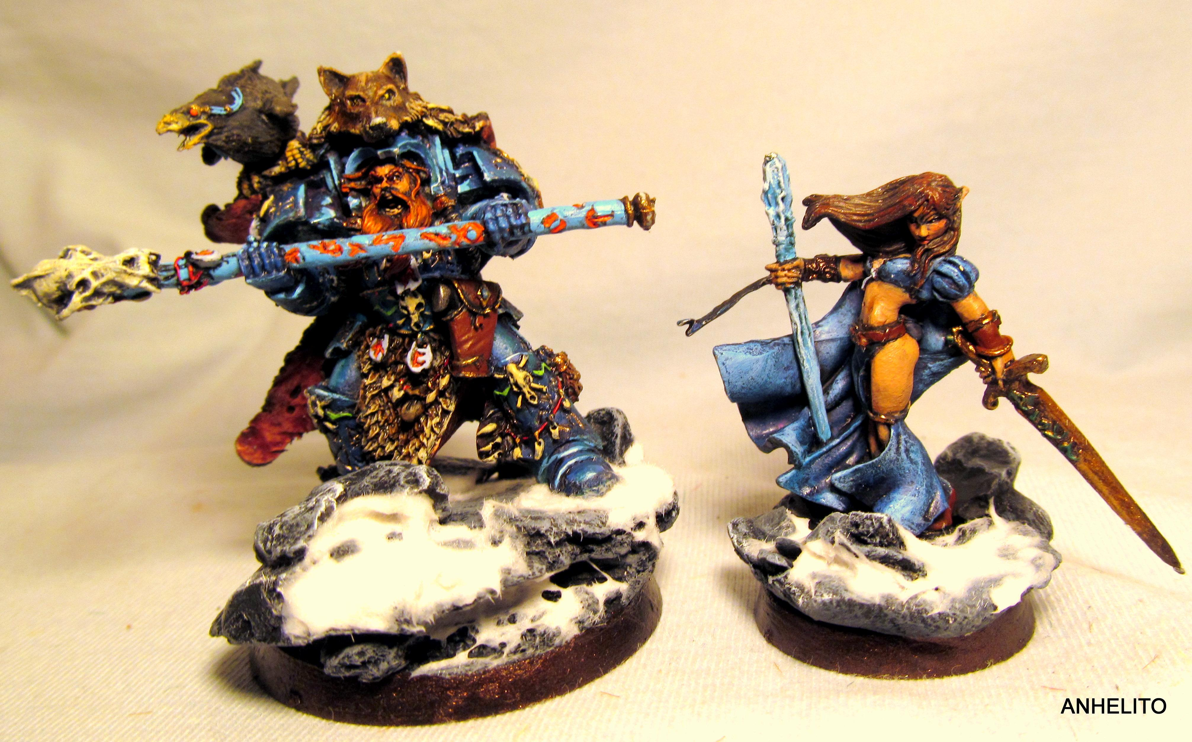 Base, Female, Snow, Space Wolves, Warhammer 40,000