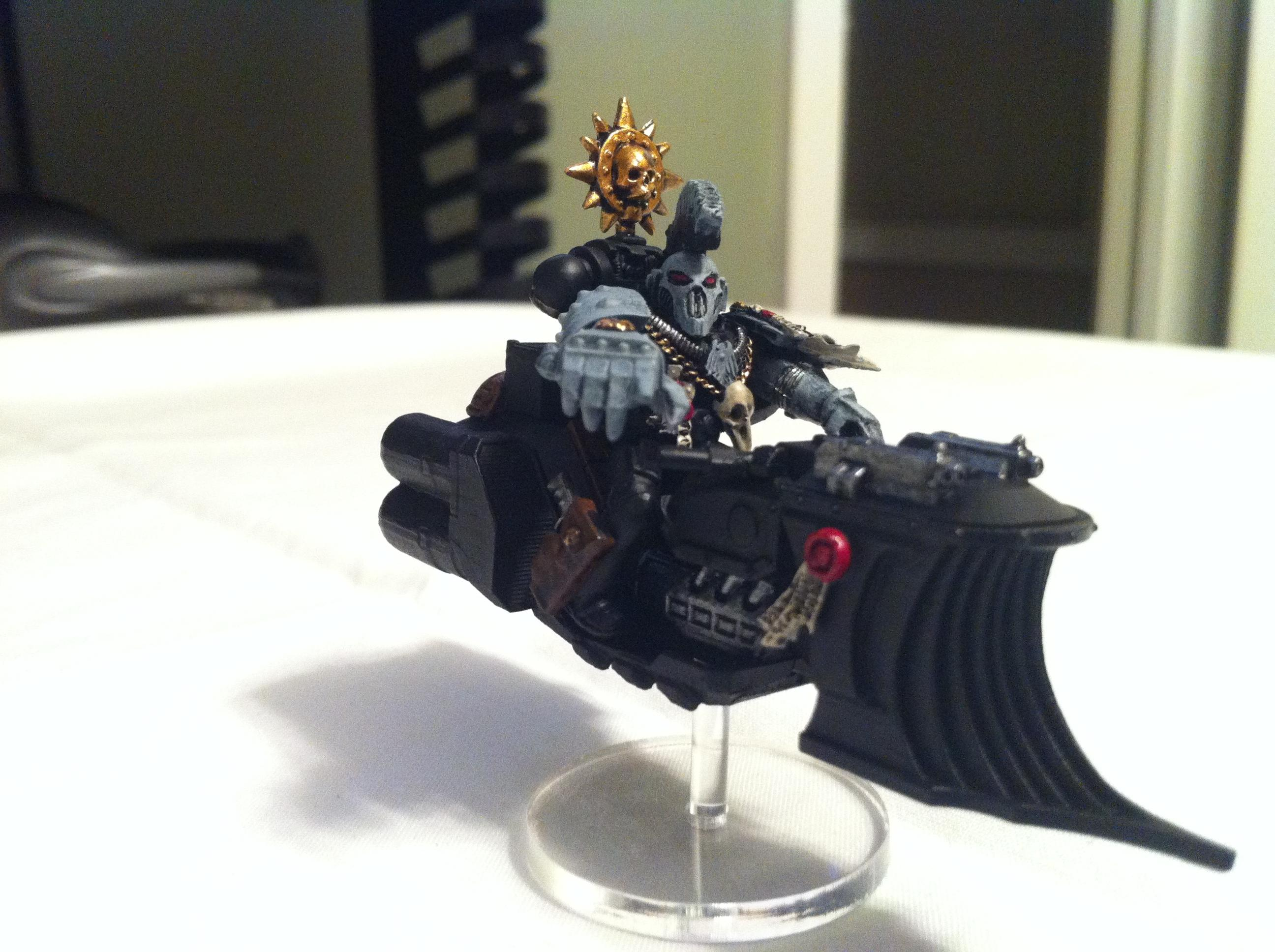Chapter Master, Custom, Jetbike, Raven Guard, Space Marines