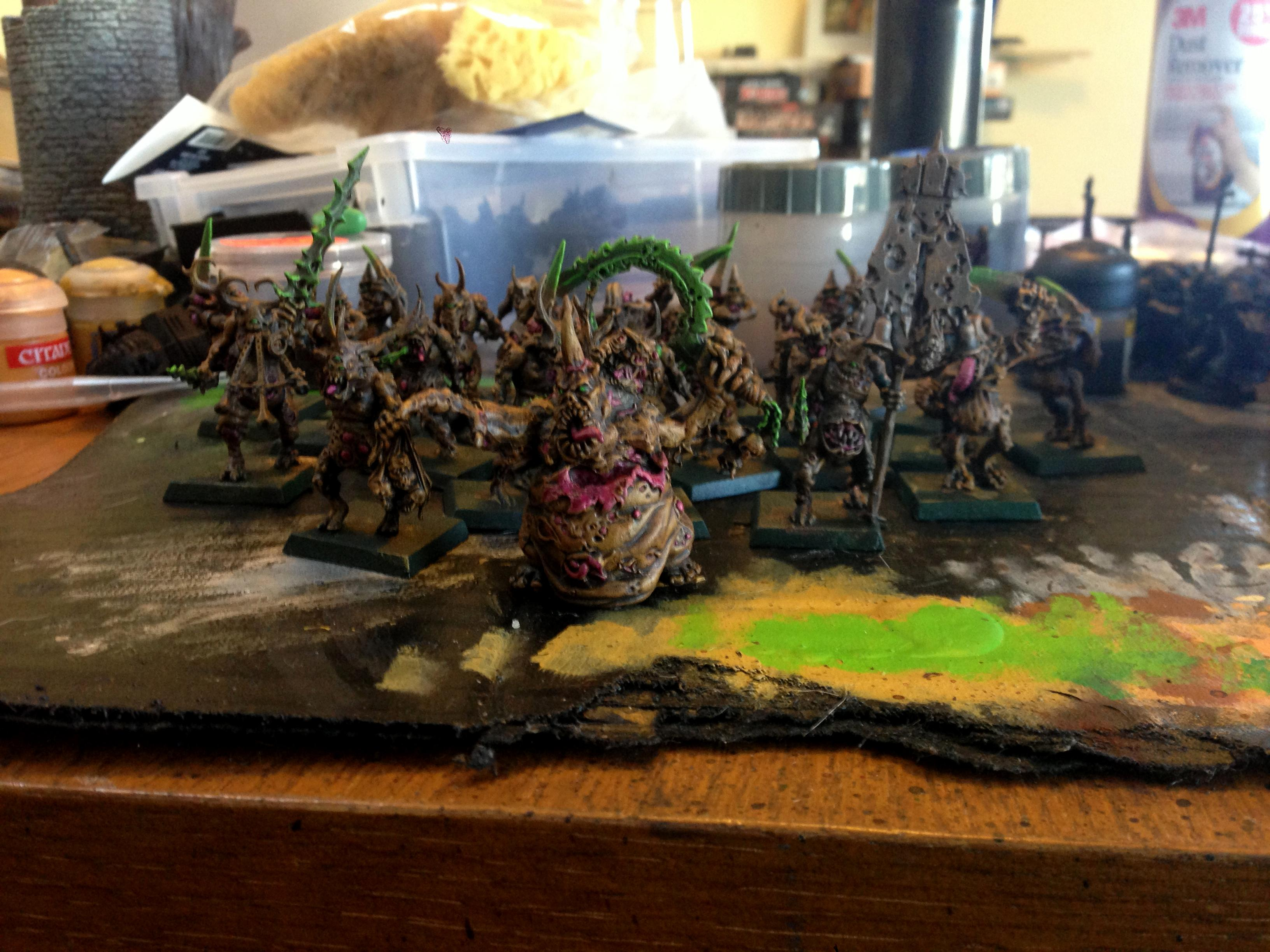 Nurgle, Plaguebearers, Work In Progress