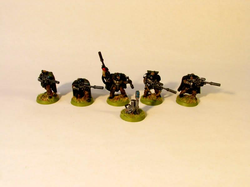 Becon, Scouts, Snipers, Space Marines, Troops