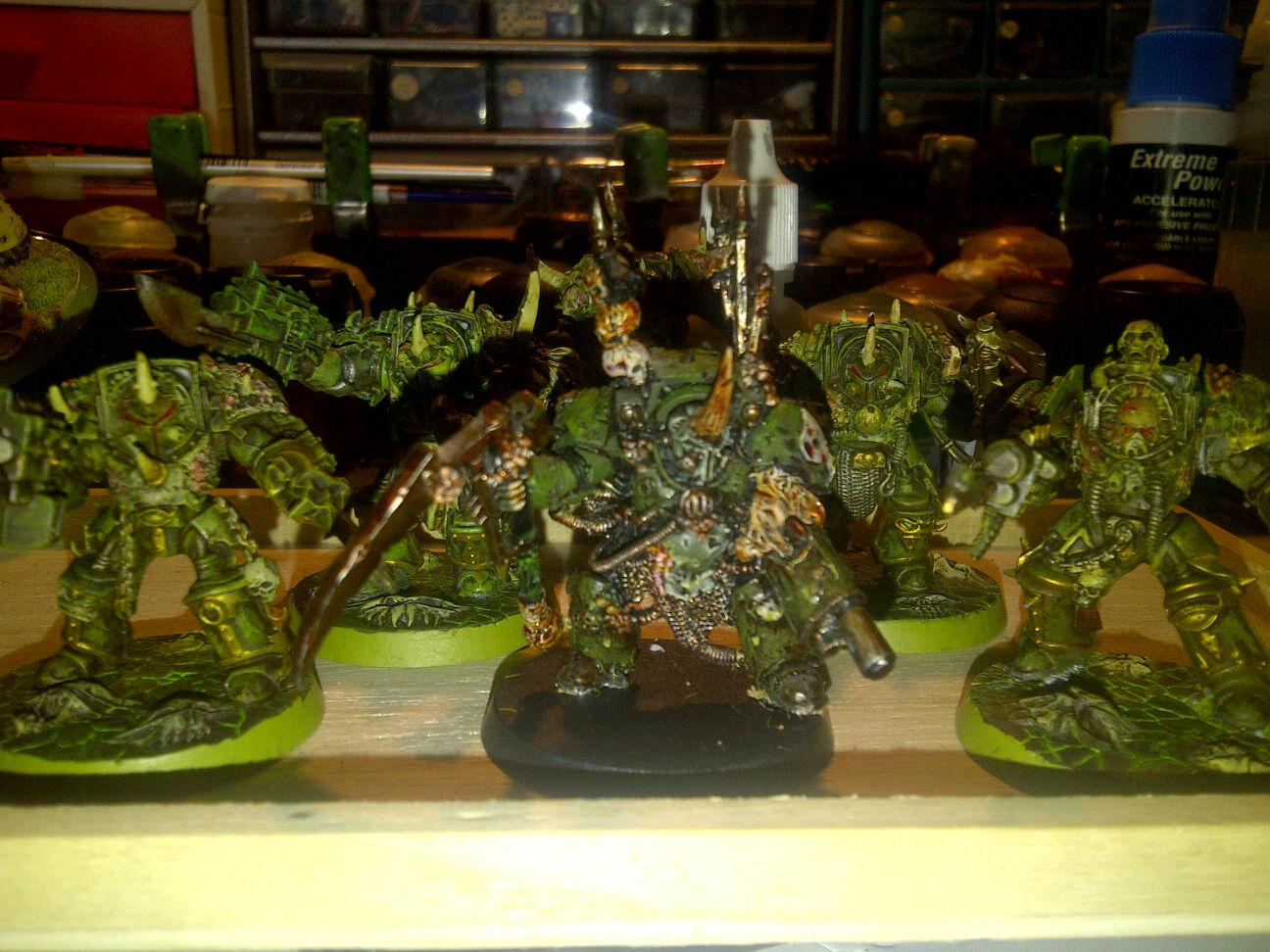 Chaos Nurgle Terminators, Chaos Space Marines, Plague Marines