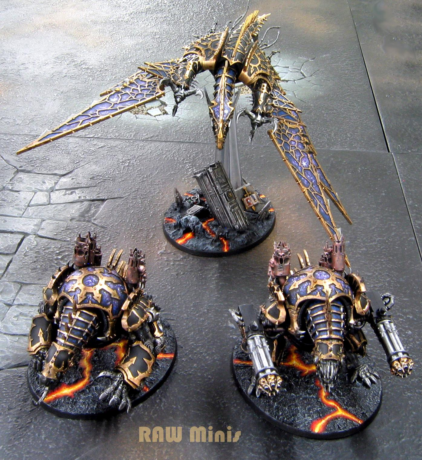 Chaos Daemons, Chaos Space Marines, Daemons, Painting, Vehicle, Warhammer 40,000