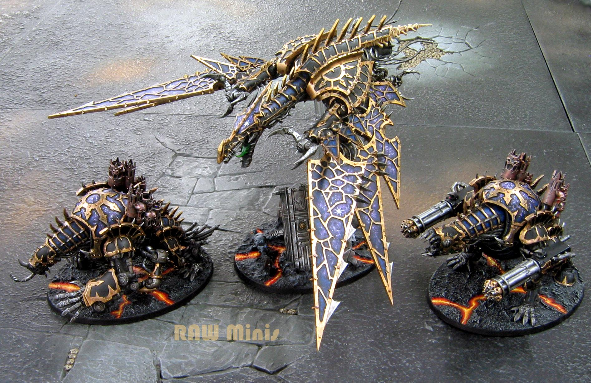 Chaos Daemons, Chaos Space Marines, Daemons, Painting, Vehicle, Warhammer 40,000