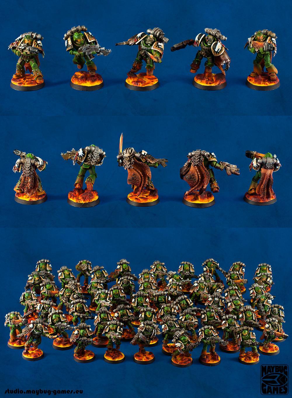 Custom, Pre Heresy, Salamanders, Space Marines, Warhammer 40,000
