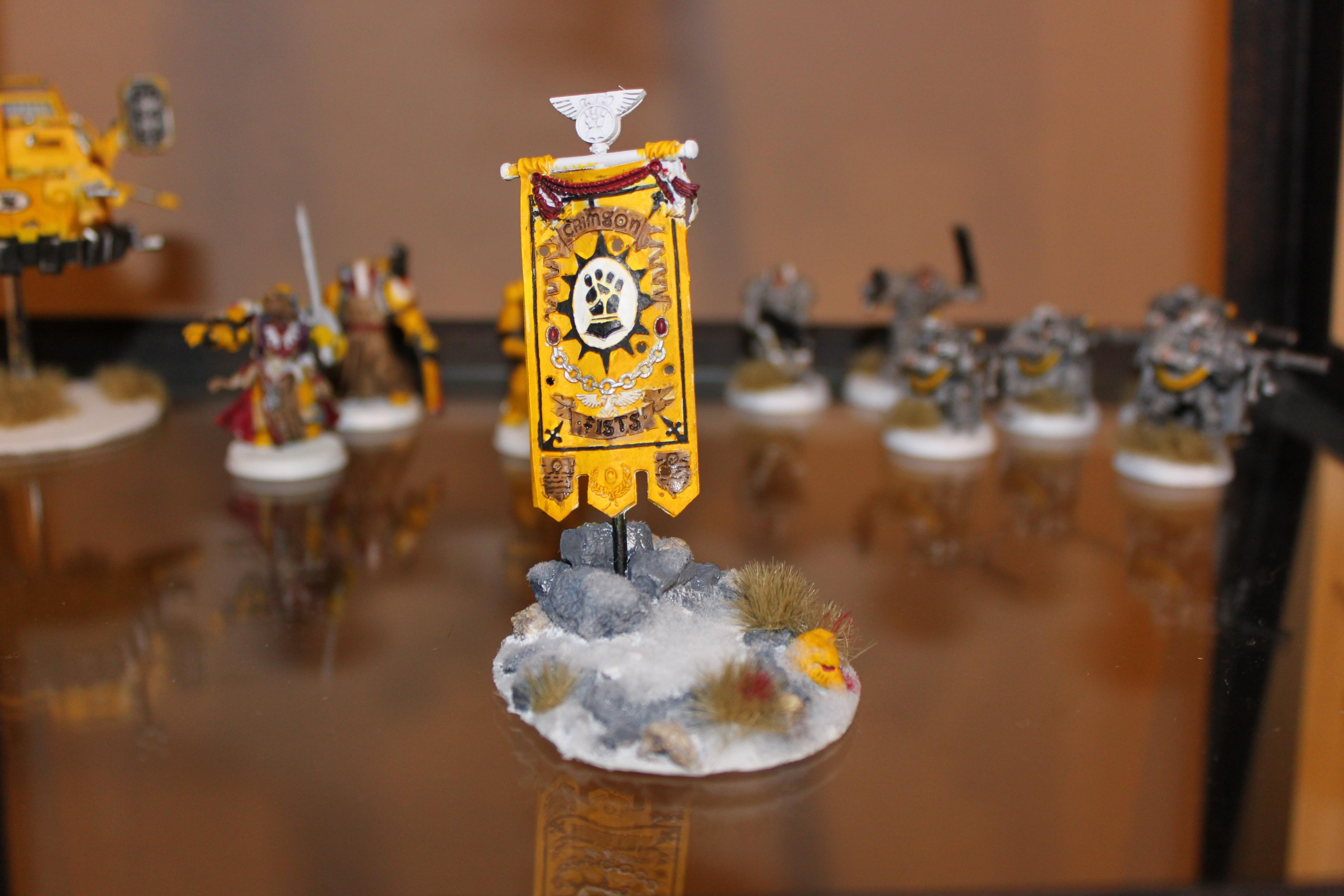 Banner, Imperial Fists, Space Marines, Warhammer 40,000