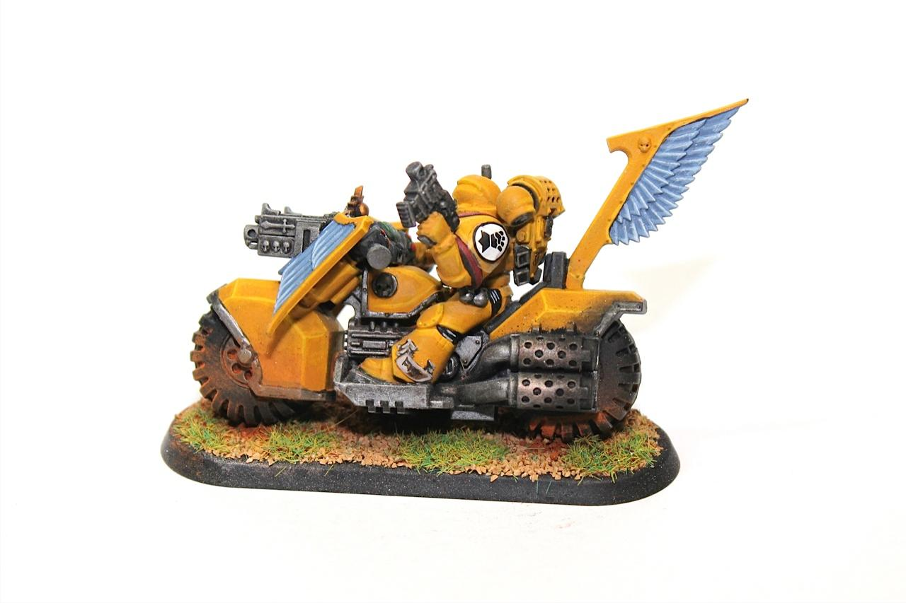Bike, Imperial Fists, Space Marines