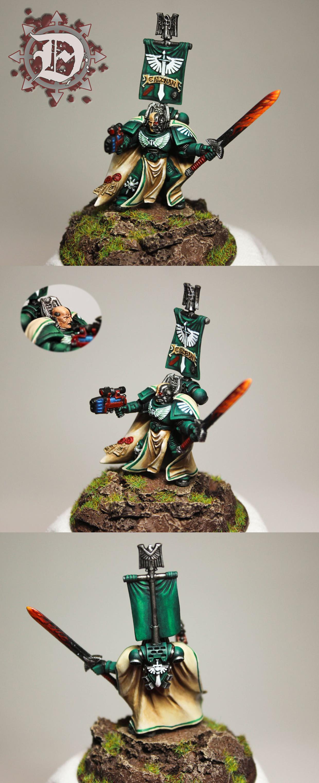 Dark Angels, Greenstuff, Sculpting, Shoulder Pads, Spacemarine