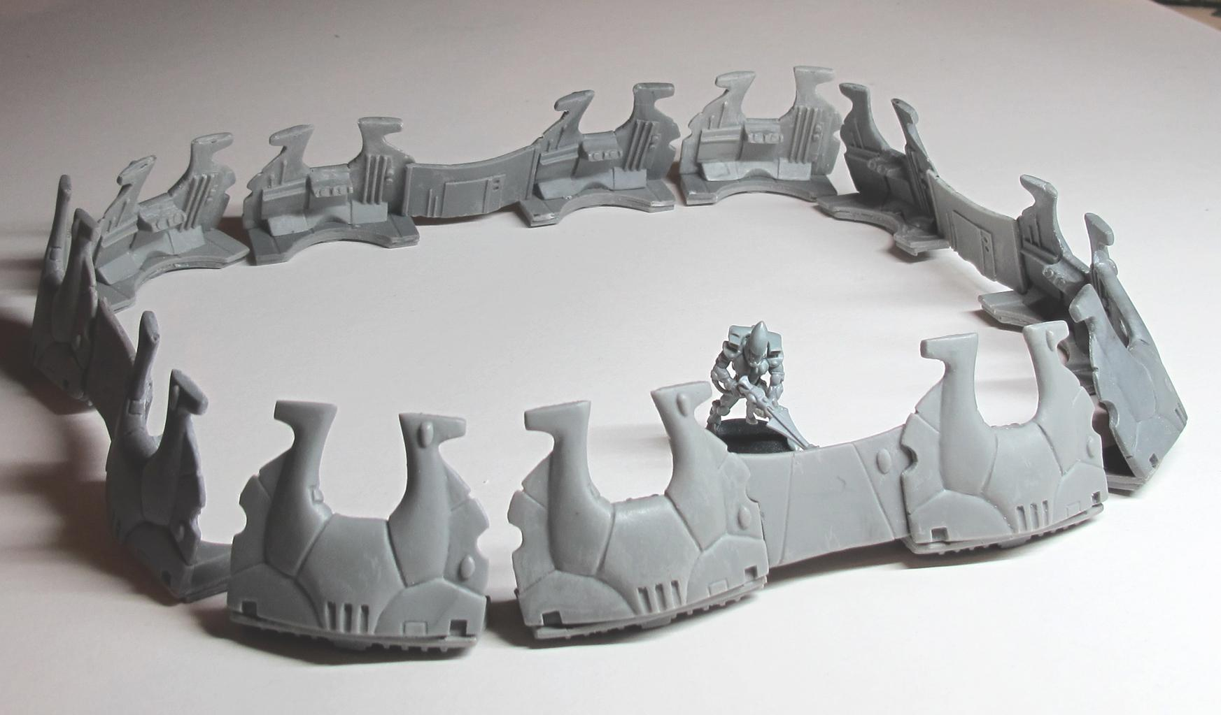 Defense Line, Eldar, Sculpting, Terrain