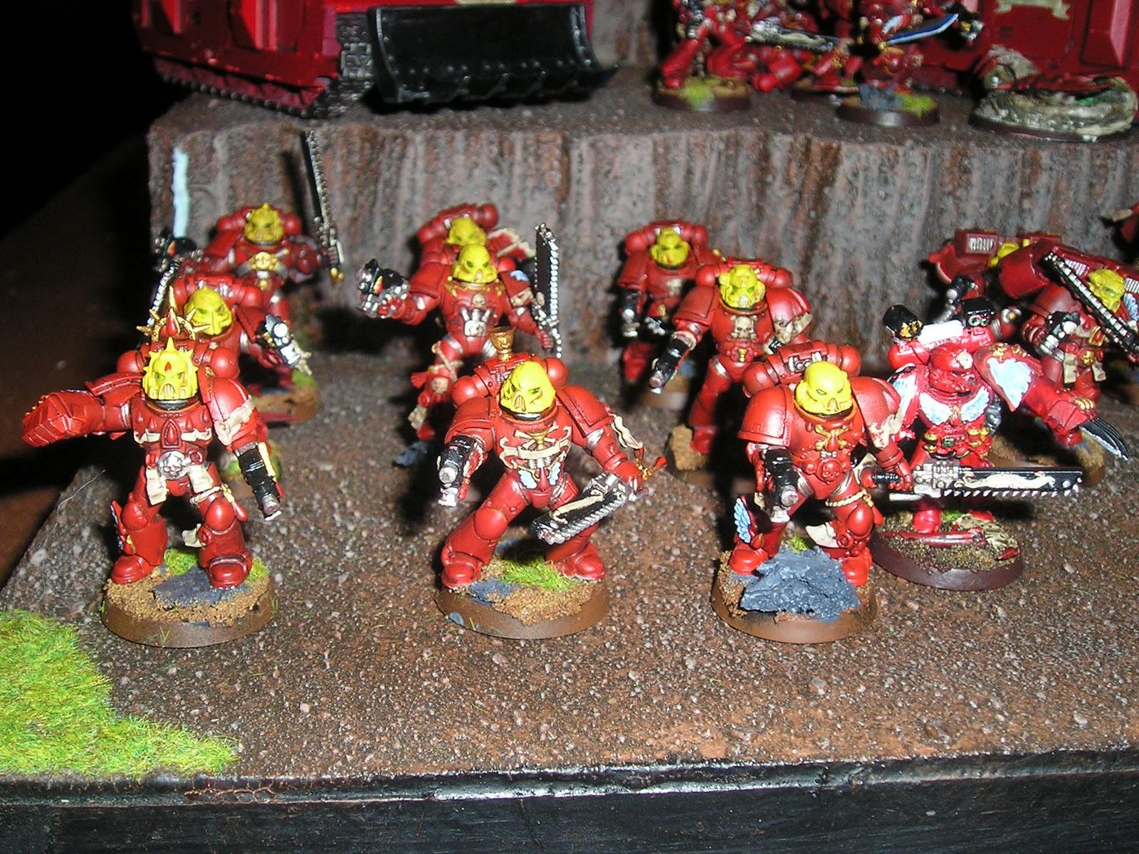 Assault Marines on foot with Sang Priest