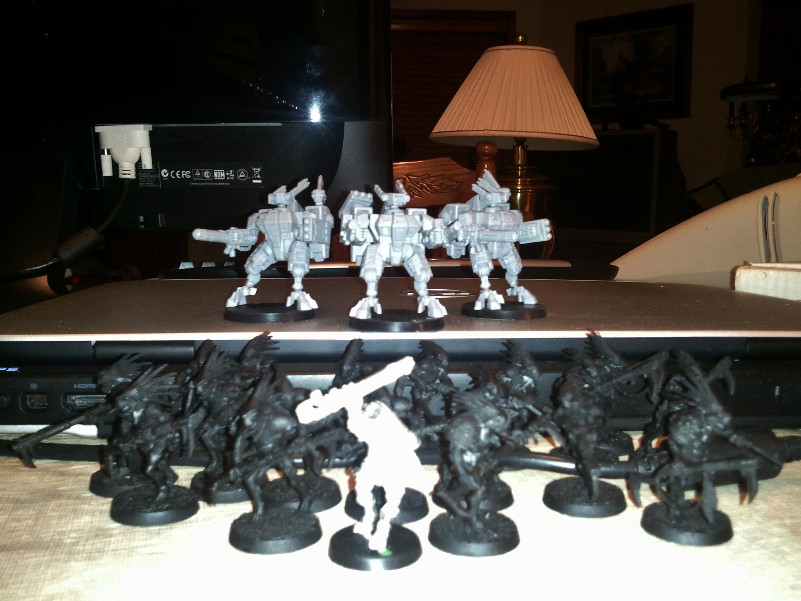 Crisis Battlesuit, Kroot, Tau