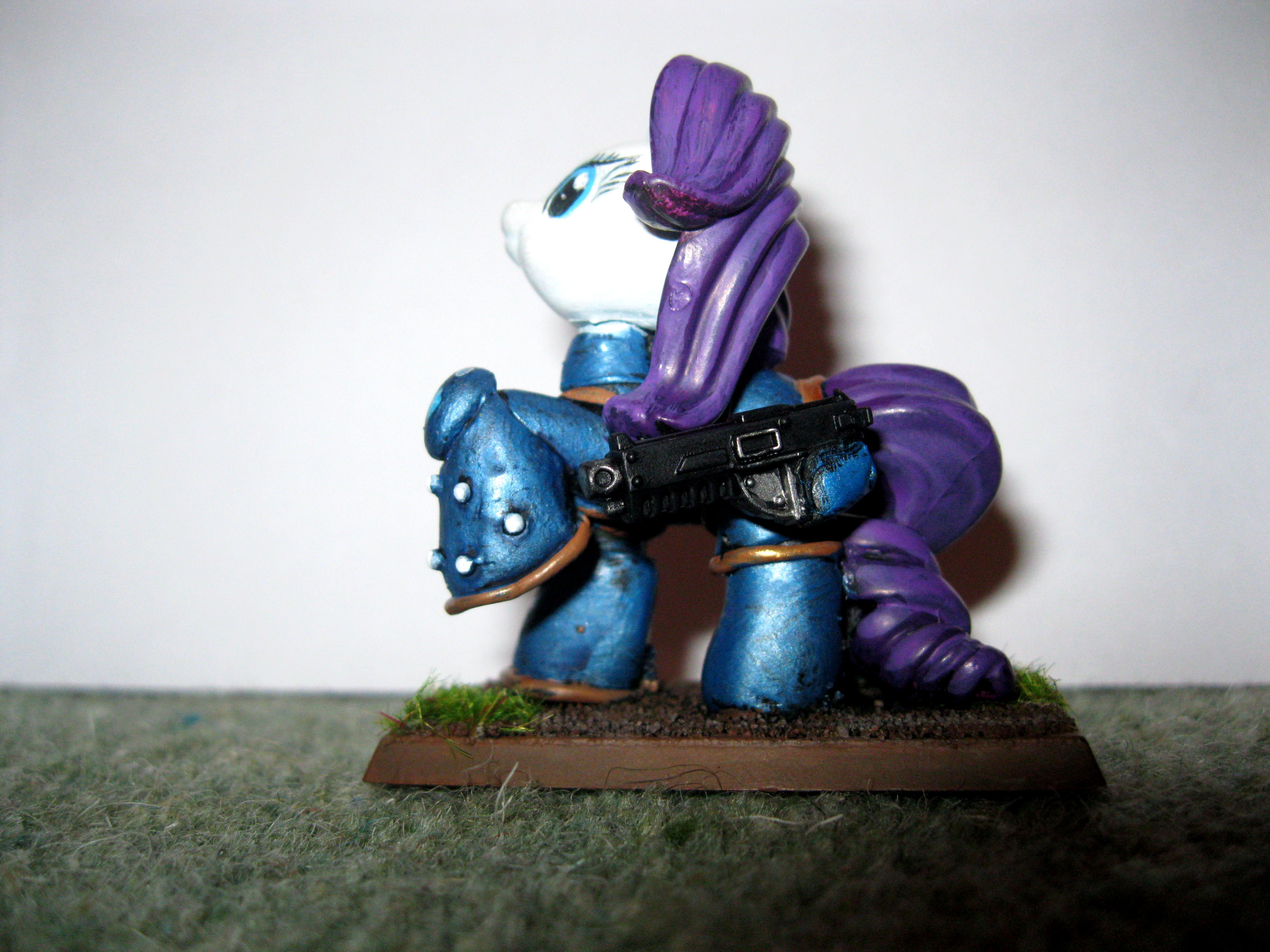 My Little Pony, Ponies, Rarity, Space Marines, Stupid, Ultramarines, Warhammer 40,000