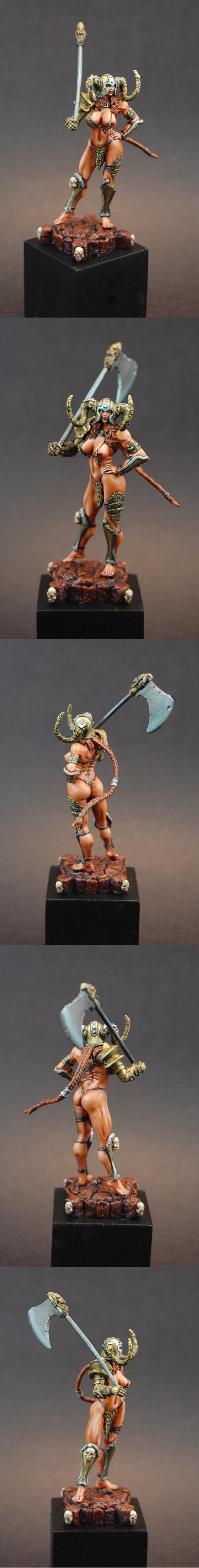 Axe, Kabuki Models, Nude, Warhammer Fantasy, Warriors