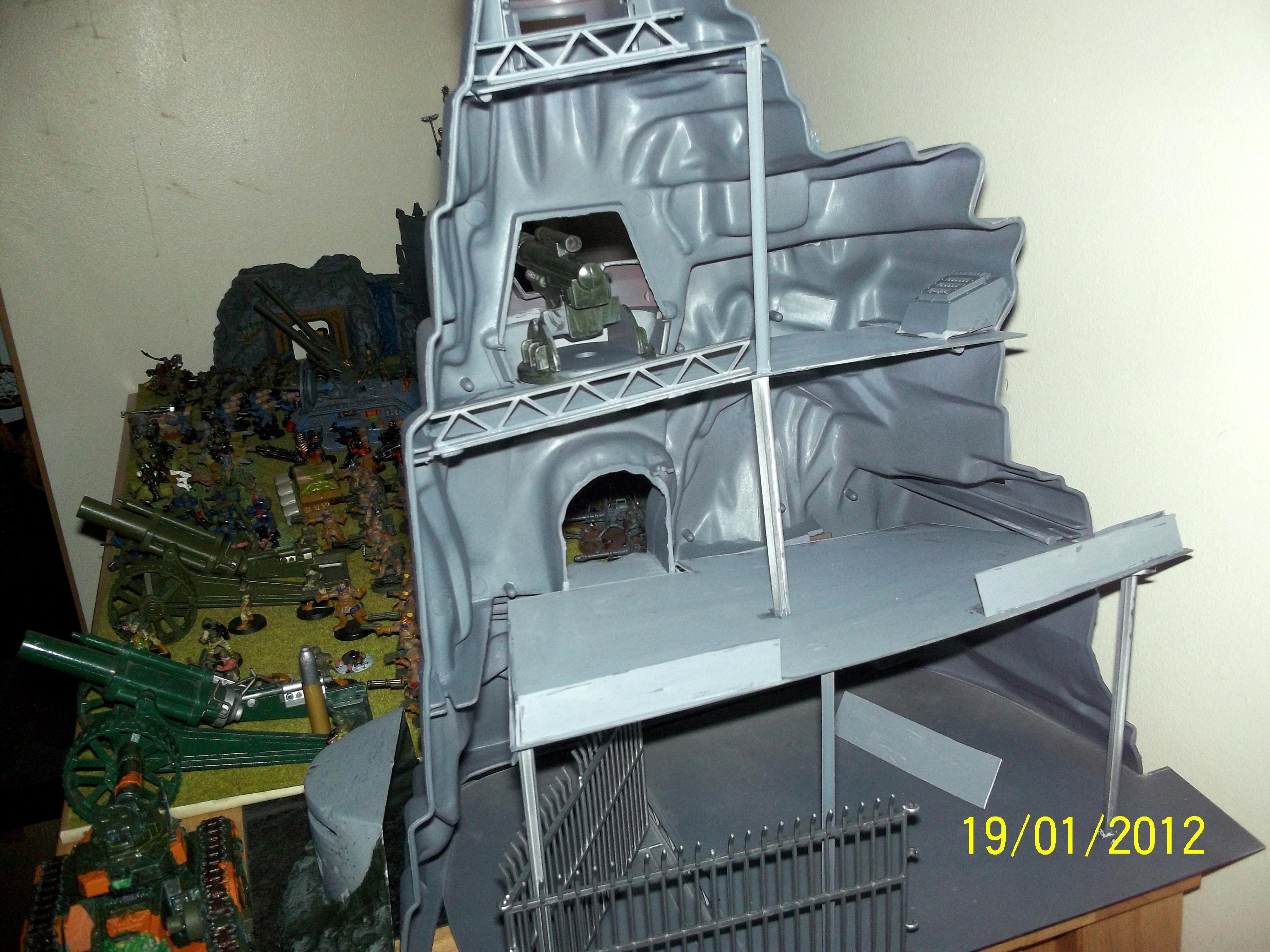 Fortress, Guns Of Navarone, Marx, Mountain, Terrain, Toy, World War 2