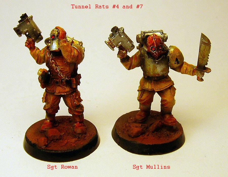 Damage, Gas Mask, Heretics, Imperial Guard, Lost And The Damned, Miners, Renegade, Rust, Traitor
