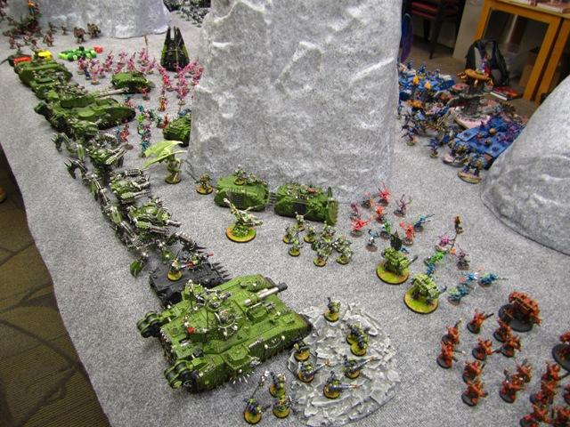 a tiny fraction of a 17,000 pt Nurgle force that is as beautiful as it is fearsome.  Really