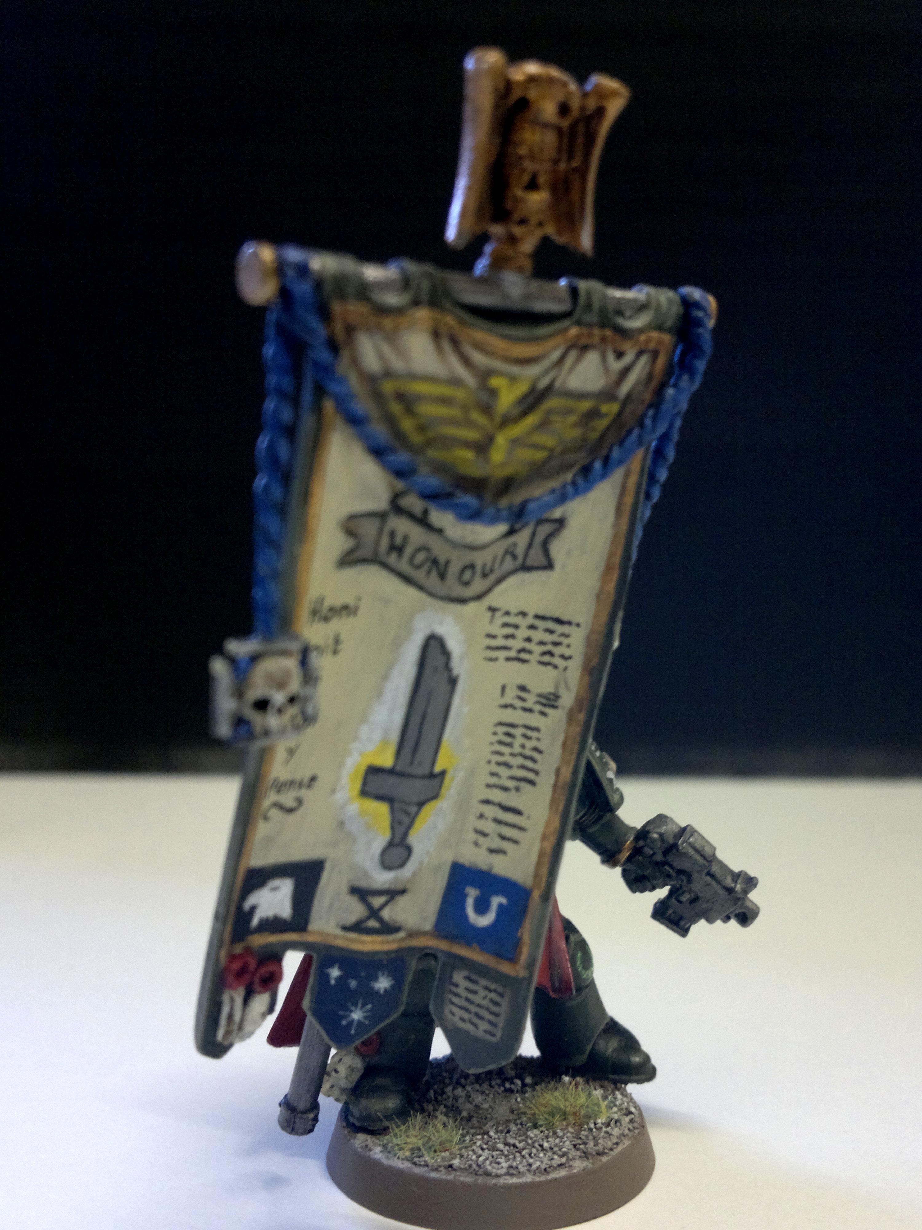 Banner, Bearer, Imperial, Space Marine. Hounour Gaurd, Standard, Warhammer 40,000