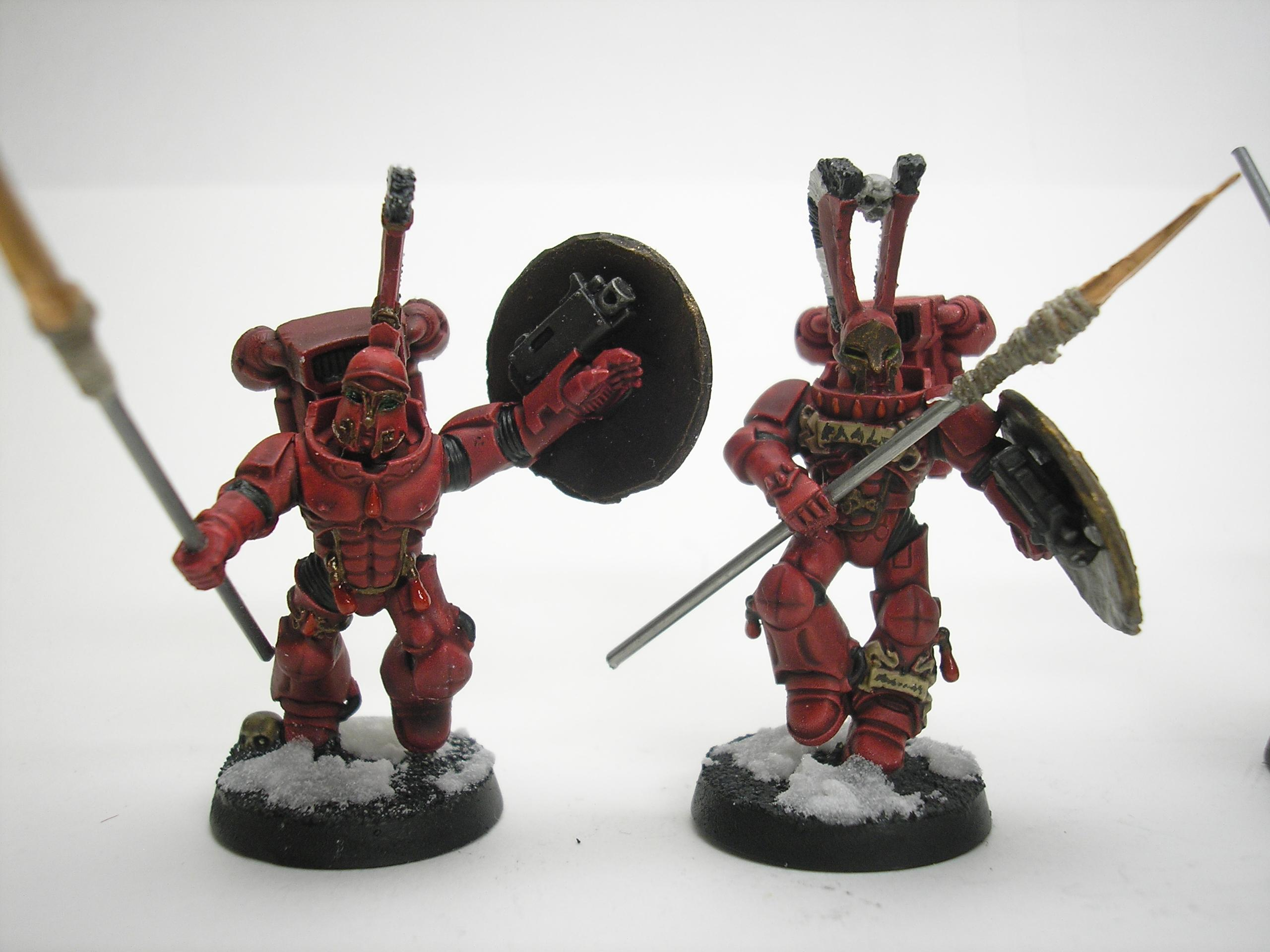 Bits, Blood Angels, Conversion, Sanguiniary Guard, Space Marines, Spartans