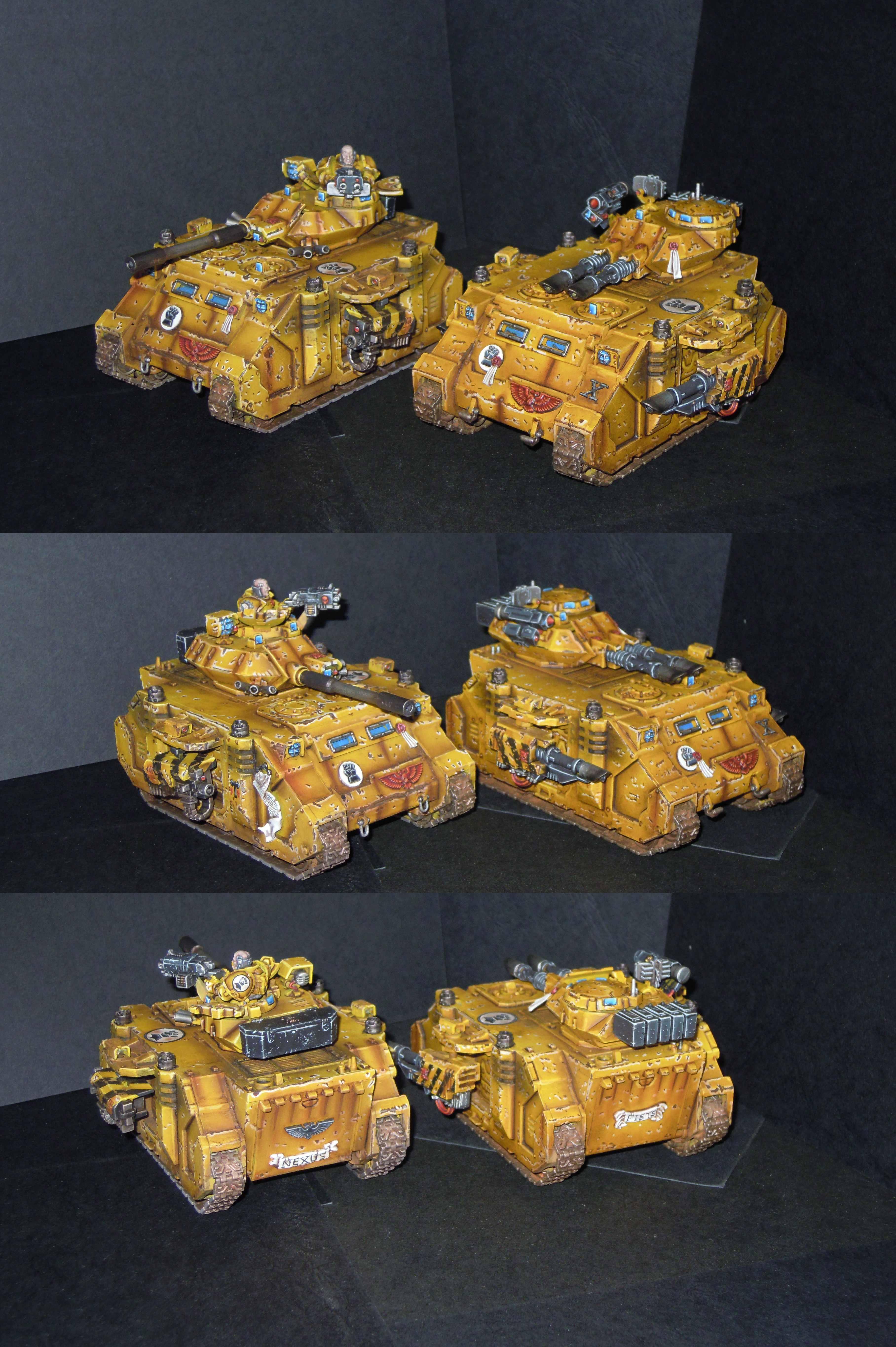Dorn, Games Workshop, Imperial Fists, Imperium, Magli Imperiali, Oberon, Predator, Rhino, Space Marines, Vindicator, W40k, Warhammer 40,000
