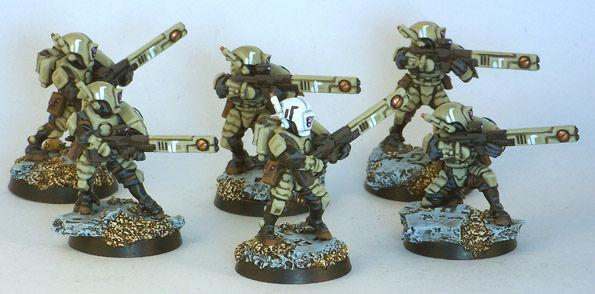 Fire Warriors, Tau, Firewarrior Squad