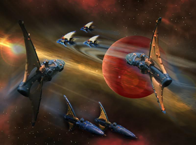 Battlefleet Gothic, Craftworld, Cruiser, Eldar, Fleet