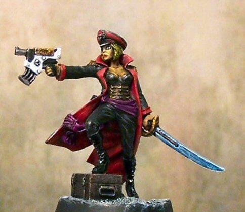 Female Commissar, Imperial Commissar, Imperial Guard, Viktoria Skivlana