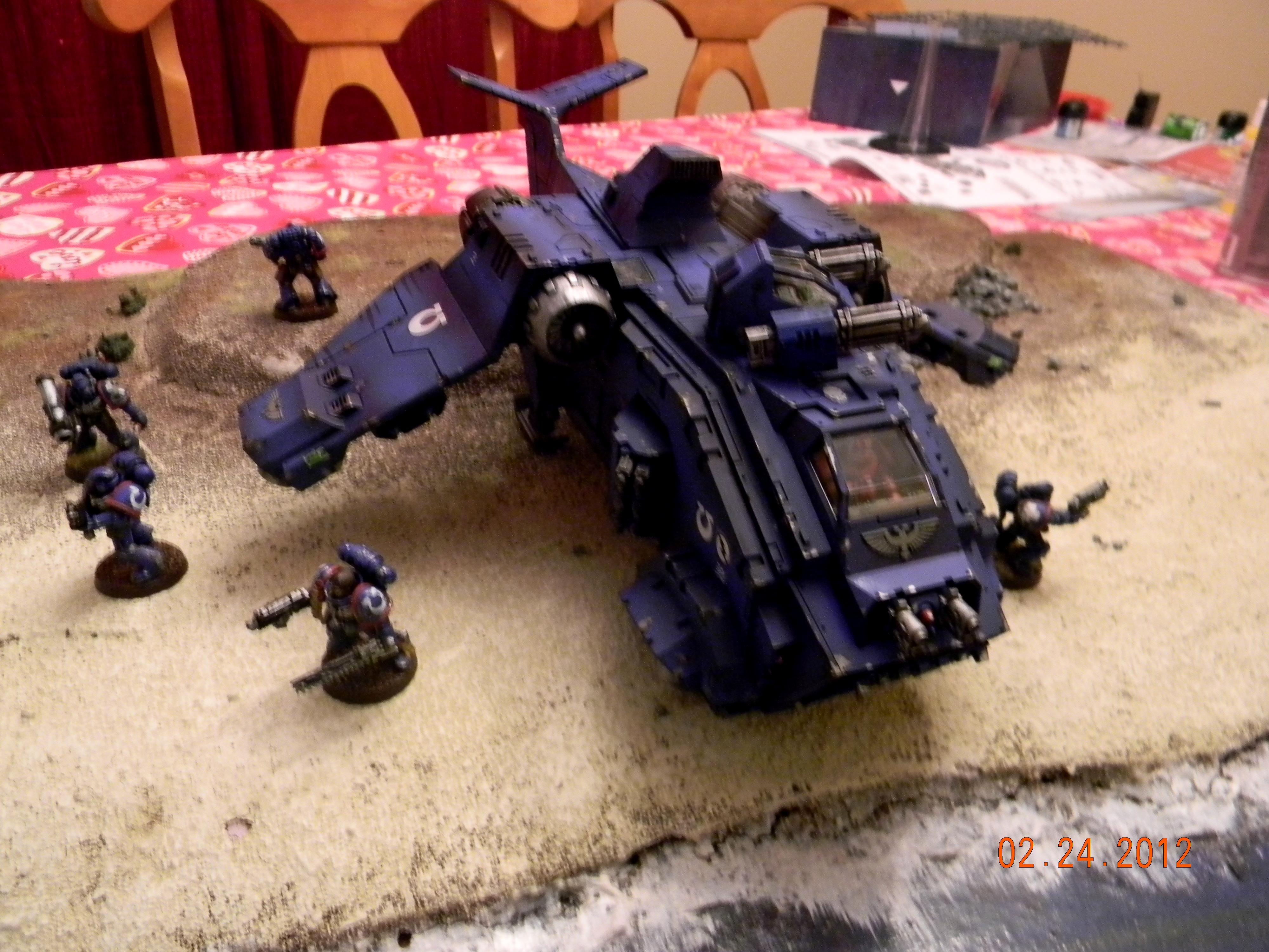 Flyer, Gunship, Space Marines, Stormraven, Ultramarines, Warhammer 40,000