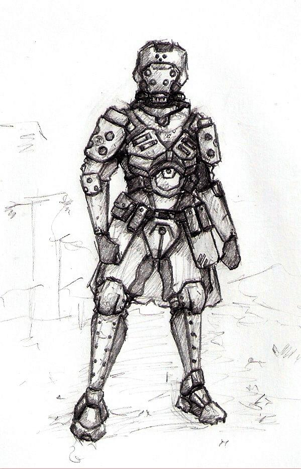 Apocalyptic, Armoured, Carapace, Post, Soldier, Trooper