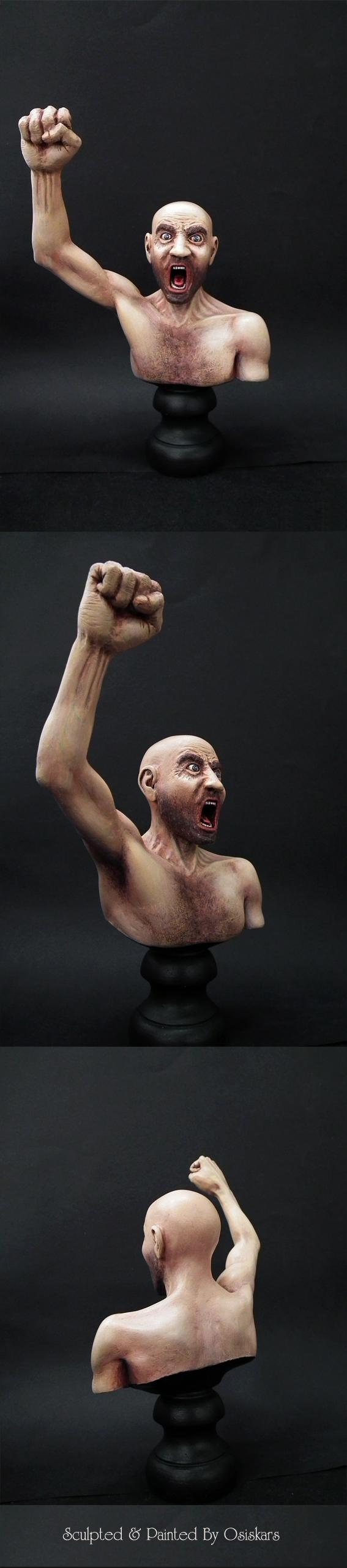 Angry, Arms, Beard, Bust, Chest Hair, Eyes, Fist, Head, Human, Iriss, Large Scale, Mouth, Skin, Stand