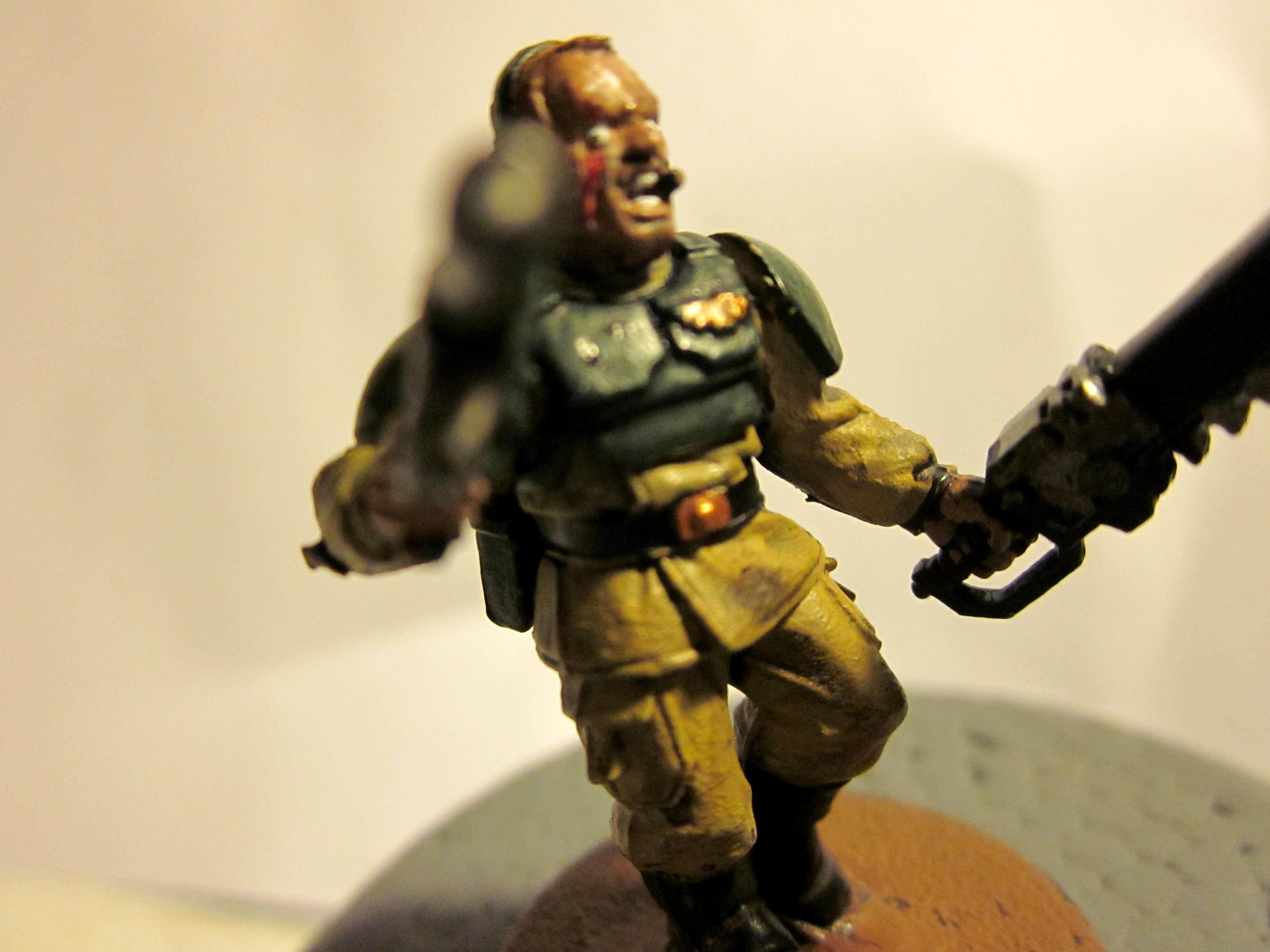 Chain Sword, Imperial Guard, Scar, Sergeant