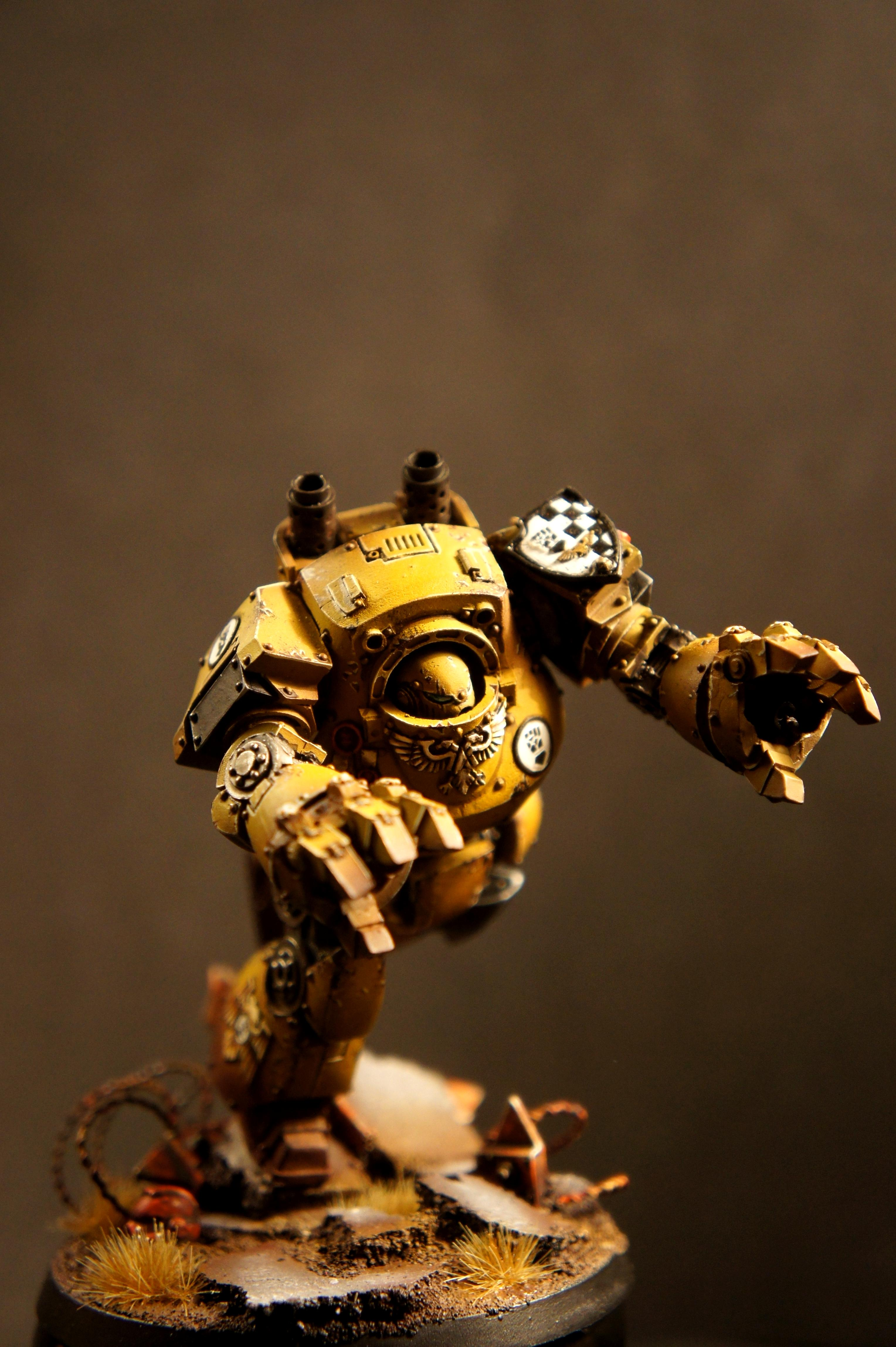 Contemptor, Dreadnought, Imperial Fists, Space Marines
